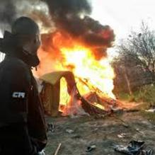 Neo-Nazi group vandalizes Roma camp in Ukraine: and they're still an official NGO