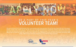 This year, joining the EUJS 2019 Volunteer Team means joining a year-long adventure!