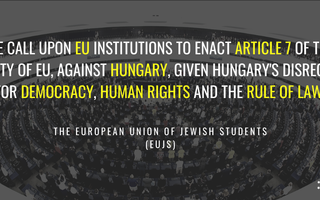 EUJS calls on the EU to uphold Democracy in Hungary