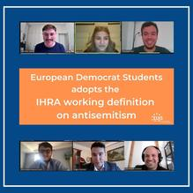 ​EUJS Welcomes the Adoption of the IHRA Working Definition of Antisemitism by the European Democrat Students (EDS)