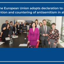 Council of the European Union Adopts Declaration to Mainstream the Prevention and Countering of Antisemitism in All Its Forms