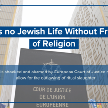 There's no Jewish Life Without Freedom of Religion