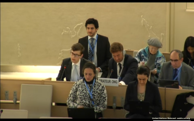 Jewish students Raise Their Voice at the UN Human Rights Council